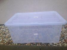 Aufbewahrungsbox mit Deckel Stapelkiste 60x40x26,5cm Kristallbox 45L Best Preis!