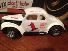 """1/24 SCALE 1937 FORD COUPE SLOT CAR BODY CLEAR -4.0"""" CHASSIS #4077"""