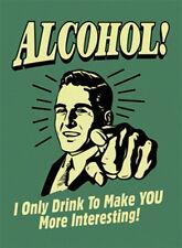 ALCOHOL! Blechschild 8x11 cm Blechkarte Sign PC-201/432