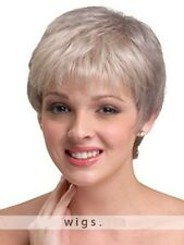 Fashion Leisure Short Straight Wig Women's Silver Gray Natural Charming Full Wig
