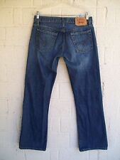 MEN'S LEVI'S JEANS 32 X 32 527 LOW RISE BOOT CUT IN BLUE DENIM PRE OWNED