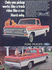 1970 Ford Pickup Truck ORIGINAL Vintage Ad 5+=FREE SHIP CMY STORE MORE GREAT ADS