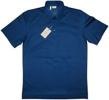$600 NWT BRIONI ROYAL BLUE MERCERIZED PIQUE SHORT SLEEVE SLIM POLO SHIRT EU 50 M