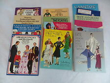 Tom Tierney FASHION PAPER DOLLS - LOT OF 14 BOOKS Dover Publications