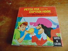 Super 8mm Color Silent Film Walt Disney's Peter Pan Meets Captain Hook