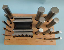 Swage Block & Punch Set 17pcs Steel Dapping Shaping Forming Craft 16 Punches