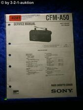 Sony Service Manual CFM A50 Cassette Corder (#4241)