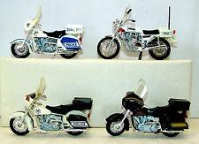 """MATCHBOX (3) MAISTO (1) POLICE MOTORCYCLES SUZUKI HARLEY DAVIDSON M.B.P.D. 5"""""""