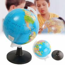 World Globe Atlas Map With Swivel Stand Geography Educational Toy Kid Gift 8.5cm