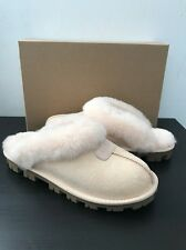New UGG COQUETTE Freshwater Pearl SUEDE SHEEPSKIN SLIPPERS WOMENS Sz 7