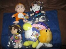 Set of 5 BOMBERMAN Plush Toys by SEGA/Hudson Soft Japan Figure UFO Rare