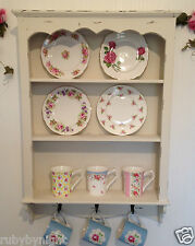 Shabby Chic Wooden Wall Unit Vintage Style Shelf Storage Cupboard Cabinet Hooks