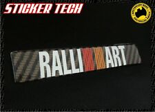 RALLIART CARBON FIBRE BADGE STICKER EMBLEM TO SUIT MITSUBISHI LANCER EVO  GSR