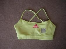 Adidas Bra Top Women's Size Large Bright Yellow NWT/NEW