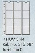 Numis coin pages - Numis 44. 5 sheets & white interleaving.