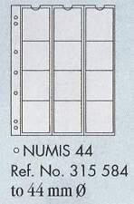 Numis moneda páginas - numis 44. 5 hojas & blanco interpolación de la