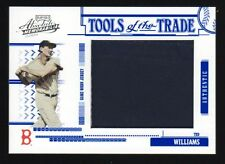 2005 Absolute Ted Williams Tools of the Trade Jumbo Swatch - Jacket #33/100