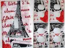 Hearts Paris Eiffel Tower light switch cover Bedroom Bathroom wall decor set of5