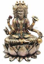 "Hindu Collectible Creator Supreme God Brahma Four Faced Veda Statue Figurine 8""h"