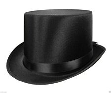 Forum Novelties Mens Deluxe Adult Satin Top Hat Costume Accessory, Black, One S