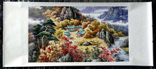 "Chinese big wall scroll painting landscape 30x68"" huge large horizontal are new"