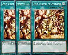 3 x YuGiOh LDK2-ENY33 SECRET VILLAGE OF THE SPELLCASTERS 1st Legendary 2 & bonus