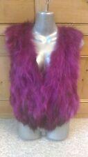 new design 100% real bright pink purple fox fur waistcoat