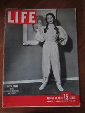 Life Magazine Loretta Young Models A Decade of Nightgowns and Pajamas 1946
