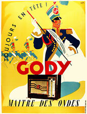 Gody (Radio) Poster by Lupa 1950  France 13 x 17 Giclee print