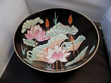 vintage Chinese 'Famille Noir'  bowl  chinese black bowl signed