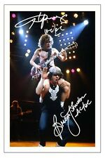 ANGUS YOUNG & BRIAN JOHNSON SIGNED PHOTO PRINT AUTOGRAPH AC/DC