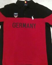 NWT  B&T Ralph Lauren Polo Big Pony Black & Red Cotton Germany Shirt Size 4XB