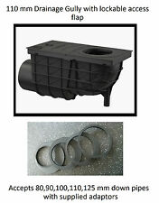 Underground Drainage Gully - Side Inlet- 110 mm For Downpipes 80,90,10,110,125mm