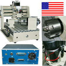 CNC 4Axis 3020 Router Engraver Milling Machine Engraving Drilling Desktop New