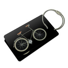 Fixed Gear Bicycle Suitcase Bag ID Luggage Tag Set