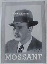 PUBLICITE CHAPEAU MOSSANT POUR HOMME DE 1933 FRENCH AD HAT PUB VINTAGE ART DECO