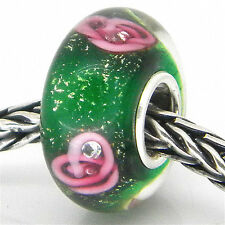MURANO GLASS BEAD AUTHENTIC 925 STERLING SILVER FIT EUROPEAN CHARM BEADS  2994