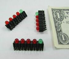 Lot 10 Mounted LED Light Bars 4 Red 1 Green Everlight Circuit Board Through Hole