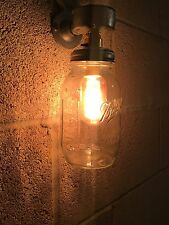 Vintage Retro Industrial Farmhouse Style Wall Light Fitting Jar Mason Ball