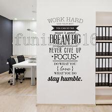Work Hard Gym Fitness Motivation Vinyl Wall Art Decal Sticker Home Business