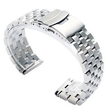 20/22/24mm Stainless Steel Watch Band Straight End Bracelet Links Solid Links