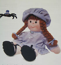 Little Miss Muffet and her Spider, Rag Doll Sewing Pattern