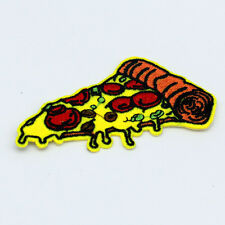 NEW 1pcs Pizza Embroidery Iron on patches sewn For clothing Applique Hat Motif@1