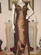 Bronze, Gold Alex & co prom party cocktail ball dress UK 10