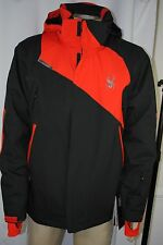 NEW Mens Spyder Rival Insulation Waterproof Ski Black Jacket SIZE XL