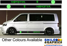 VW Volkswagen Transporter T5  Camper Van Monster stripes stickers graphics 04