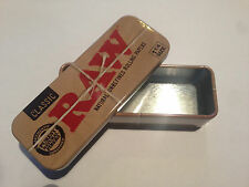 METAL BOX FOR RAW Classic Rolling Papers 1 1/4 Size