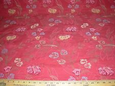 """~32 YDS~FABRICUT~""""FLOWERS EMBROIDERED"""" ~STUNNING UPHOLSTERY FABRIC FOR LESS~"""