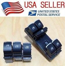 4 Pcs OEM Chrome Window Switch set VW PASSAT CC B6 GOLF JETTA MK5 Tiguan GTI A26