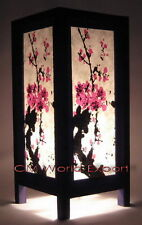 ASIAN HOME DECOR LIVING / BEDROOM NIGHTSTAND TABLE LAMPS - *CHERRY BLOSSOM TREE*